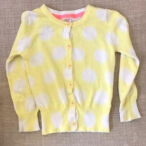 Kids yellow Cherokee cardigan size 24 months